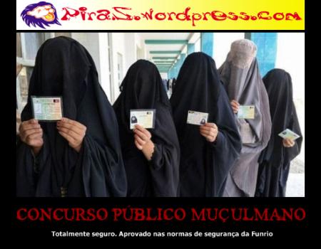 piras placas motivacionais concurso público muçulmano